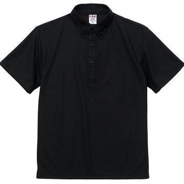 4.7オンススペシャルドライカノコポロシャツ(ボタンダウン)002.ブラック
