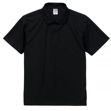 4.7オンススペシャルドライカノコポロシャツ002.ブラック