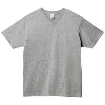 5.6オンスヘビーウェイトVネックTシャツ003.杢グレー