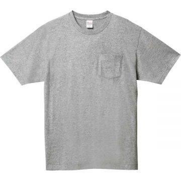 5.6オンスヘビーウェイトポケットTシャツ003.杢グレー