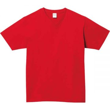 5.6オンスヘビーウェイトVネックTシャツ010.レッド