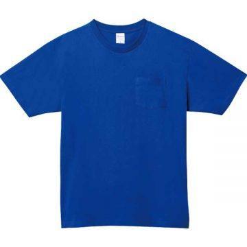 5.6オンスヘビーウェイトポケットTシャツ032.ロイヤルブルー