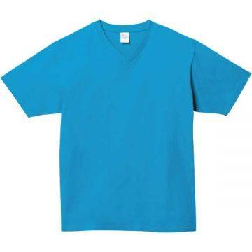 5.6オンスヘビーウェイトVネックTシャツ034.ターコイズ