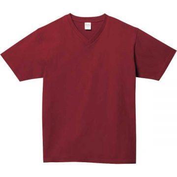 5.6オンスヘビーウェイトVネックTシャツ112.バーガンディ
