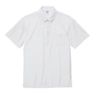 4.7オンススペシャルドライカノコポロシャツ(ボタンダウン)(ポケット付)001.ホワイト