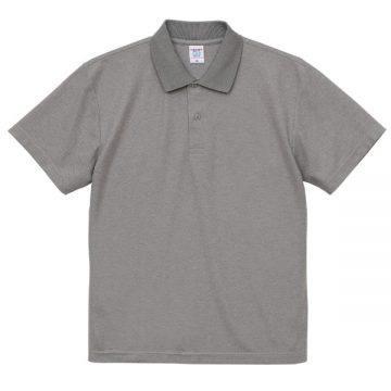 4.7オンススペシャルドライカノコポロシャツ006.ミックスグレー