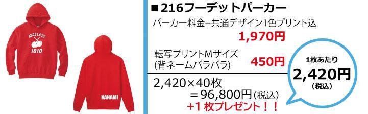 クラスパーカー予算別画像2,500円216