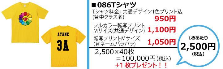 クラスTシャツ予算別画像2,500円086
