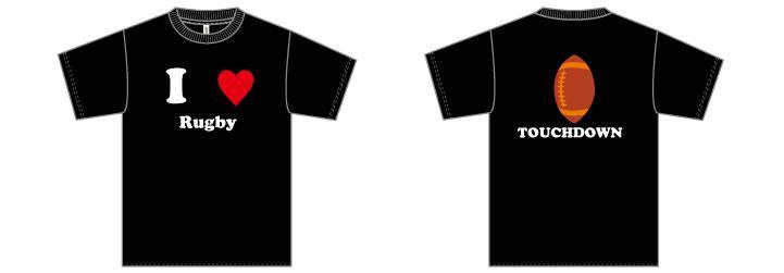 部活Tシャツラグビー面白デザイン