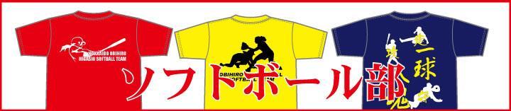 ソフトボール部Tシャツ用プリントデザイン