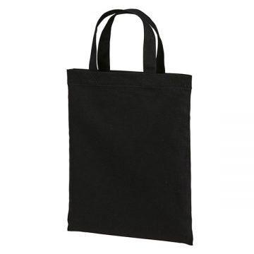 スタンダードキャンバスフラットトートバッグ(Sサイズ)002.ブラック