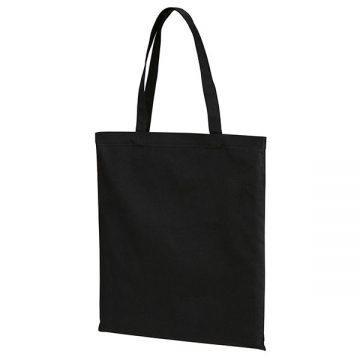 スタンダードキャンバスフラットトートバッグ(Lサイズ)002.ブラック