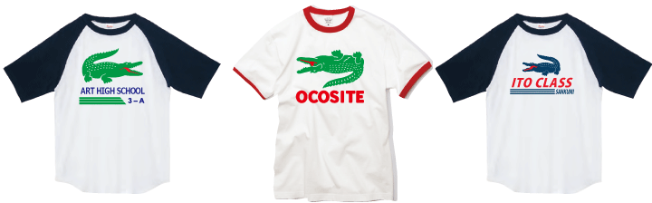 ラコステ風クラスTシャツ