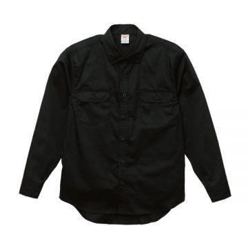 T/Cワークロングスリーブシャツ002.ブラック