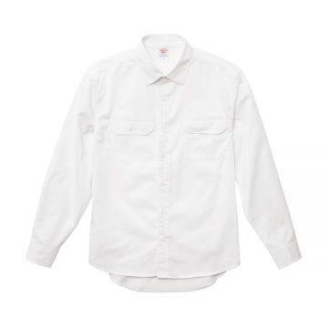 T/Cワークロングスリーブシャツ003.ホワイト