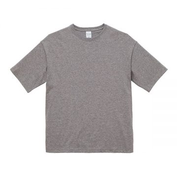 ビッグシルエットTシャツ006.ミックスグレー