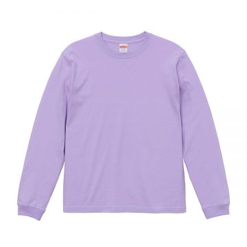 ロングスリーブTシャツ(袖口リブ仕様)494.ライトパープル