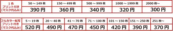 スポーツマスク価格表
