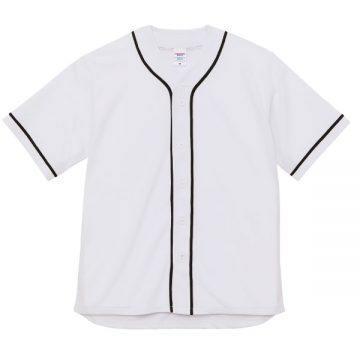 ドライアスレチックベースボールシャツ1002.ホワイト×ブラック
