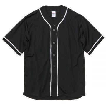 ドライアスレチックベースボールシャツ2001.ブラック×ホワイト