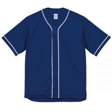 ドライアスレチックベースボールシャツ4801.マリンブルー×ホワイト