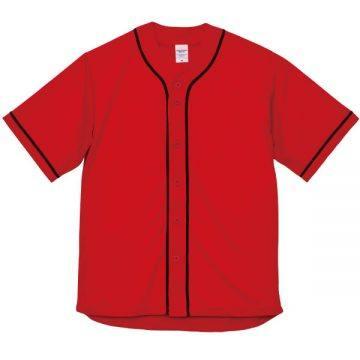 ドライアスレチックベースボールシャツ5602.レッド×ブラック