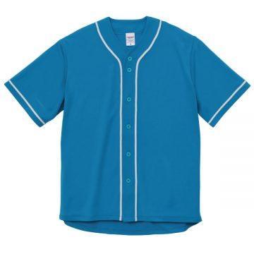 ドライアスレチックベースボールシャツ6001.ターコイズブルー×ホワイト