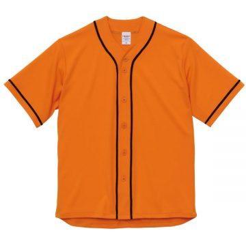 ドライアスレチックベースボールシャツ6402.オレンジ×ブラック