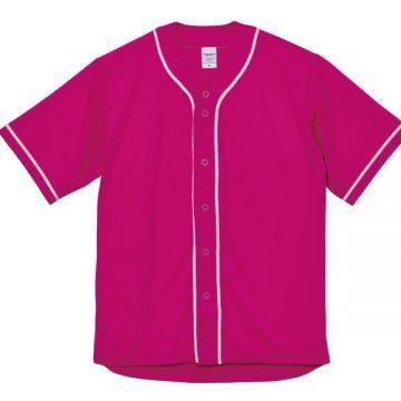 ドライアスレチックベースボールシャツ6601.トロピカルピンク×ホワイト