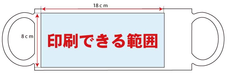 マグカッププリント印刷範囲左全面