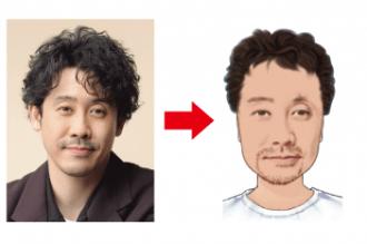 手描きスケッチ風デザイン男性