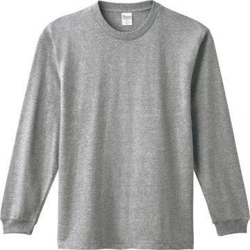 ヘビーウエイトLS- Tシャツ003.杢グレー