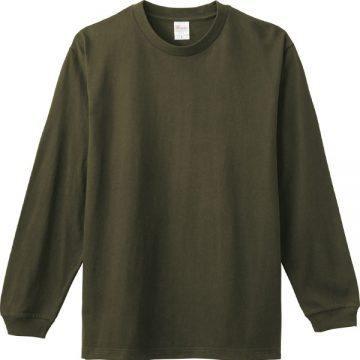 ヘビーウエイトLS- Tシャツ037.アーミーグリーン