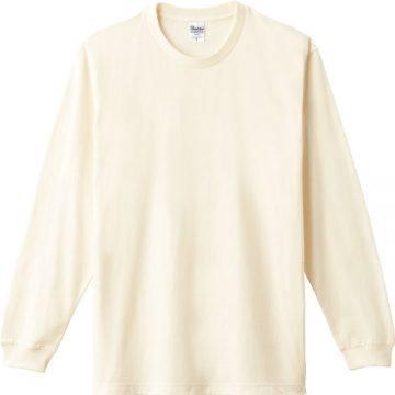 ヘビーウエイトLS- Tシャツ073.アイボリー