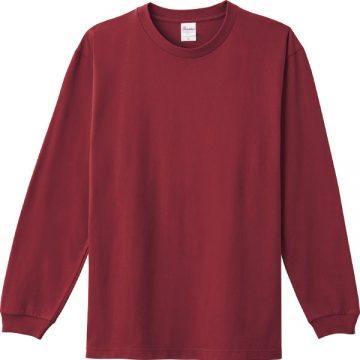 ヘビーウエイトLS- Tシャツ112.バーガンディ