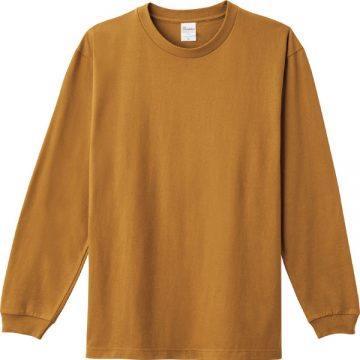 ヘビーウエイトLS- Tシャツ154.キャメル
