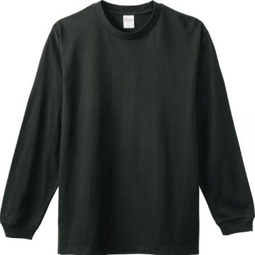 ヘビーウエイトLS- Tシャツ223.スモークブラック