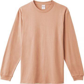 ヘビーウエイトLS- Tシャツ400.ダスティピンク