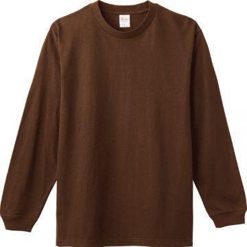 ヘビーウエイトLS- Tシャツ453.ダークブラウン