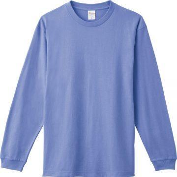ヘビーウエイトLS- Tシャツ463.ダスティブルー